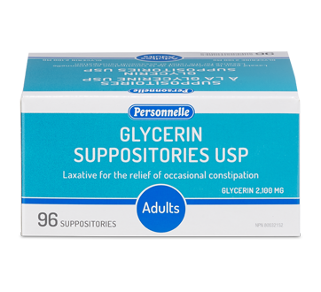 Image of product Personnelle - Glycerin Suppositories, 96 units