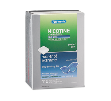 Image of product Personnelle - Nicotine Gum Regular Strength 2 mg, 110 units, Menthol extreme
