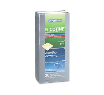 Image of product Personnelle - Nicotine Gum Extra Strength 4 mg, 30 units, Menthol extreme