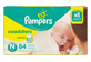 Thumbnail of product Pampers - Swaddlers Diapers, 84 units, Size N