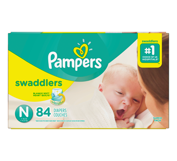 Swaddlers Diapers, 84 units, Size N