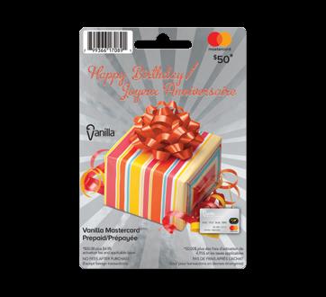 $50 Vanilla Happy Birthday Prepaid Mastercard, 1 unit