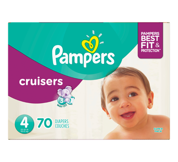 Cruisers Diapers, 70 units, Size 4