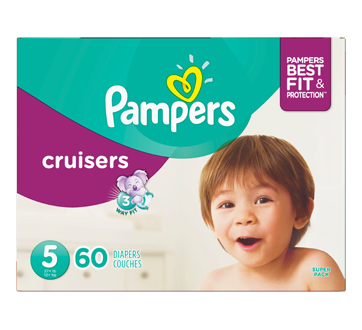 Cruisers Diapers, 60 units, Size 5