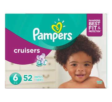 Cruisers Diapers, 52 units, Size 6
