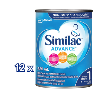 Image 2 of product Similac - Similac Advance with Omega-3 & Omega-6 Concentrate, 12 x 385 ml
