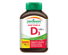 Image of product Jamieson - Vitamin D 1,000 IU Softgels, 150 units