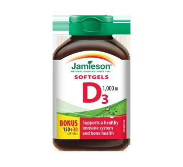 Image 1 of product Jamieson - Vitamin D 1,000 IU Softgels, 150 units