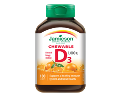 Image of product Jamieson - Chewable Vitamin D 1,000 IU Tangy Orange, 100 units