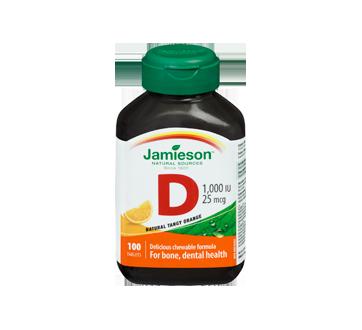 Image 3 of product Jamieson - Chewable Vitamin D 1,000 IU Tangy Orange, 100 units