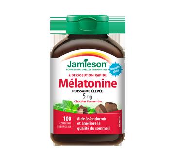 Image of product Jamieson - Melatonin 5 mg Fast Dissolving Tablets, Chocolate Mint, 100 units