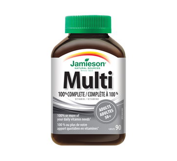 Image of product Jamieson - 100% Complete Multivitamin for Adults 50+, 90 units