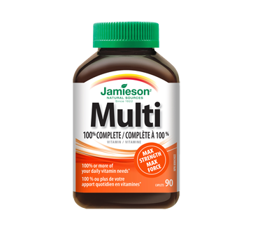 Image of product Jamieson - 100% Complete Multivitamin Max Strength, 90 units