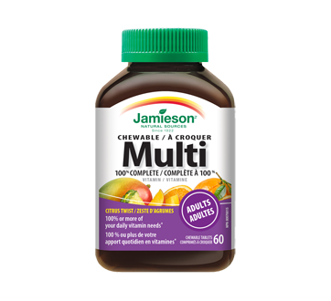 Image of product Jamieson - 100% Complete Chewable Multivitamin, 60 units, Citrus Twist