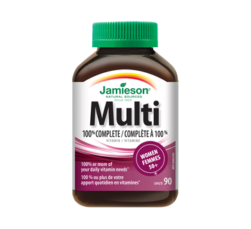 Image of product Jamieson - 100% Complete Multivitamin for Women 50+, 90 units