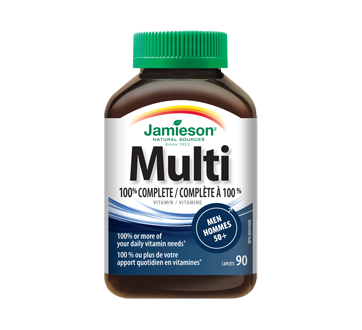 Image of product Jamieson - 100% Complete Multivitamin for Men 50+, 90 units