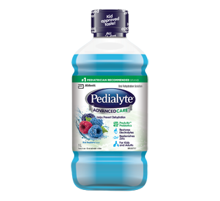 Pedialyte Advanced Care Oral Rehydration Solution, 1 L, Blue Raspberry