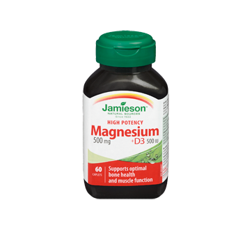 Image of product Jamieson - High Potency Magnesium + Vitamin D3, 60 units