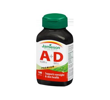 Image 1 of product Jamieson - Vitamine A 10 000 UI + D 800 UI, 100 units