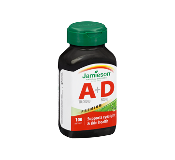 Image 2 of product Jamieson - Vitamine A 10 000 UI + D 800 UI, 100 units