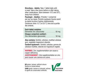 Image 2 of product Jamieson - Zinc Extra Stenght 50 mg, 100 units