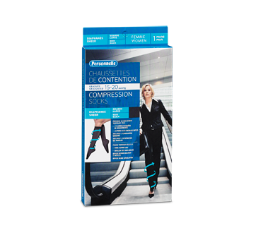 Image of product Personnelle - Compression Socks Sheer, 1 unit, Women, Black, Large