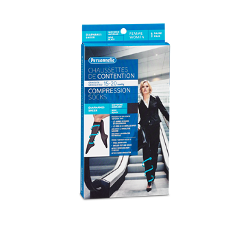 Image of product Personnelle - Compression Socks Sheer, 1 unit, Women, Black, Average