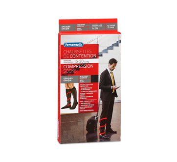 Image of product Personnelle - Compression Socks Opaque, 1 unit, Men, Black, Average