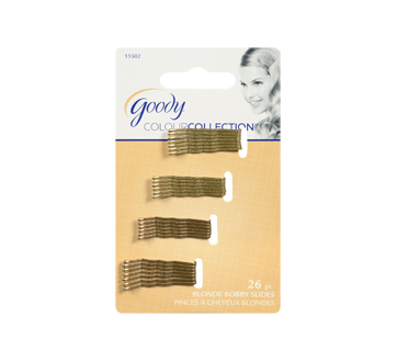 Colour Collection Metallic Small Bobby Pin, 26 units, Blonde