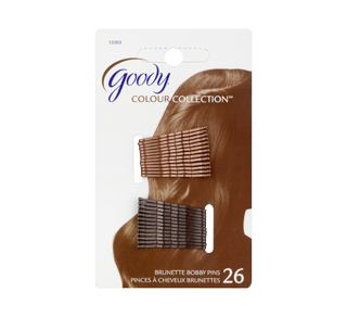 Colour Collection Metallic Small Bobby Pin, 26 units, Brunette