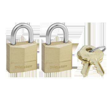 Solid Brass Keyed Alike Padlocks, 2 units