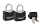 Thumbnail of product Master Lock - Vinyl Covered Keyed Alike Padlocks, 2 units, Black