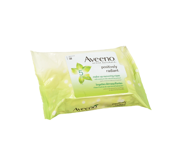 Image 3 of product Aveeno - Positively Radiant Make-up Removing Wipes, 25 units