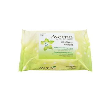 Image 4 of product Aveeno - Positively Radiant Make-up Removing Wipes, 25 units