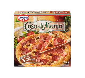 Casa Di Mama Frozen Pizza, 395 g, 3 Meat