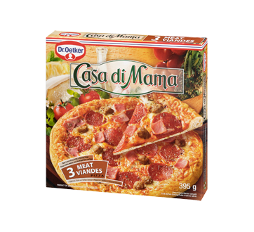 Image 3 of product Dr. Oetker - Casa Di Mama Frozen Pizza, 395 g, 3 Meat