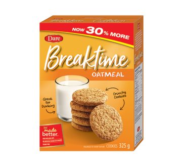 Image of product Les Aliments Dare Limitée - Breaktime Cookies, 325 g, Oatmeal