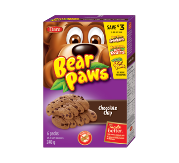 Bear Paws Soft Cookies, 240 g, Chocolate Chip