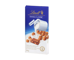 Image of product Lindt - Swiss Classic Milk Chocolate, 100 g, Hazelnut