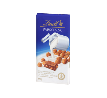 Image 1 of product Lindt - Swiss Classic Milk Chocolate, 100 g, Hazelnut