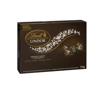 Image 2 of product Lindt - Lindor Irresistibly Smooth Extra Dark 60%, 156 g
