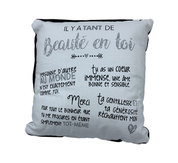 Cushion, Beauty in you white, 1 unit