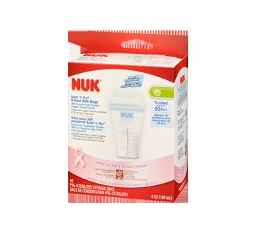 Image 1 of product NUK - Seal 'n Go Breast Milk Bags, 50 x 180 ml