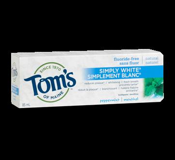 Simply White Fluoride-Free Toothpaste, 85 ml, Peppermint