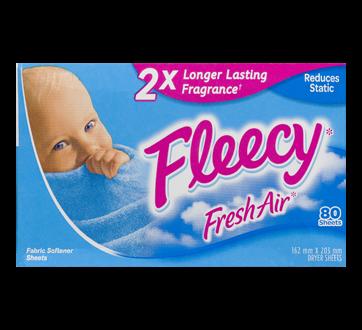 Fabric Softener Sheets, 80 units, Fresh Air