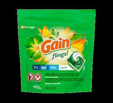 Flings! Laundry Detergent Pacs, 14 units, Original