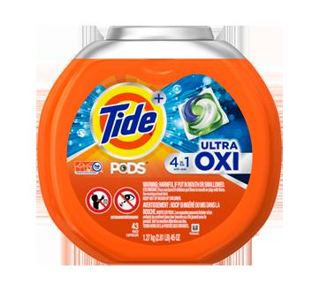 Pods Ultra Oxi Liquid Detergent Pacs, 43 units – Tide