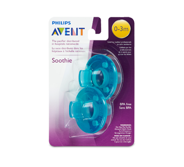 Soothie 0-3 Months Pacifier, 2 units