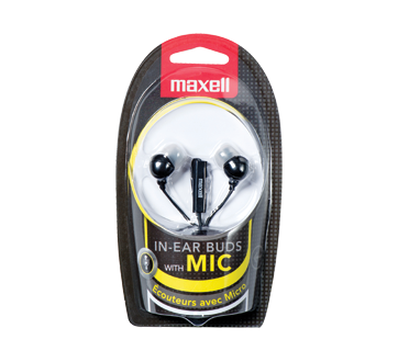 In-Ear Buds with Mic, 1 unit