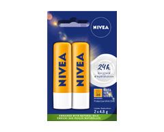 Image of product Nivea - Lip Balm - Sun SPF 30 Duo Pack